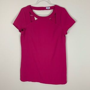 TOBI | Pink cut out back tunic top
